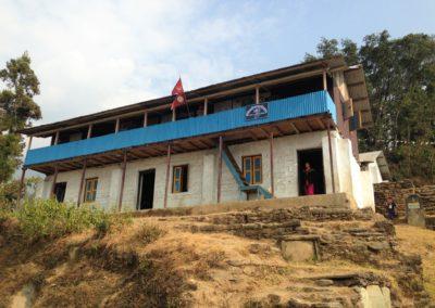 Das Schulgebäude in Falaicha