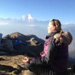 Meditieren im Annapurna Gebirge mit Katja